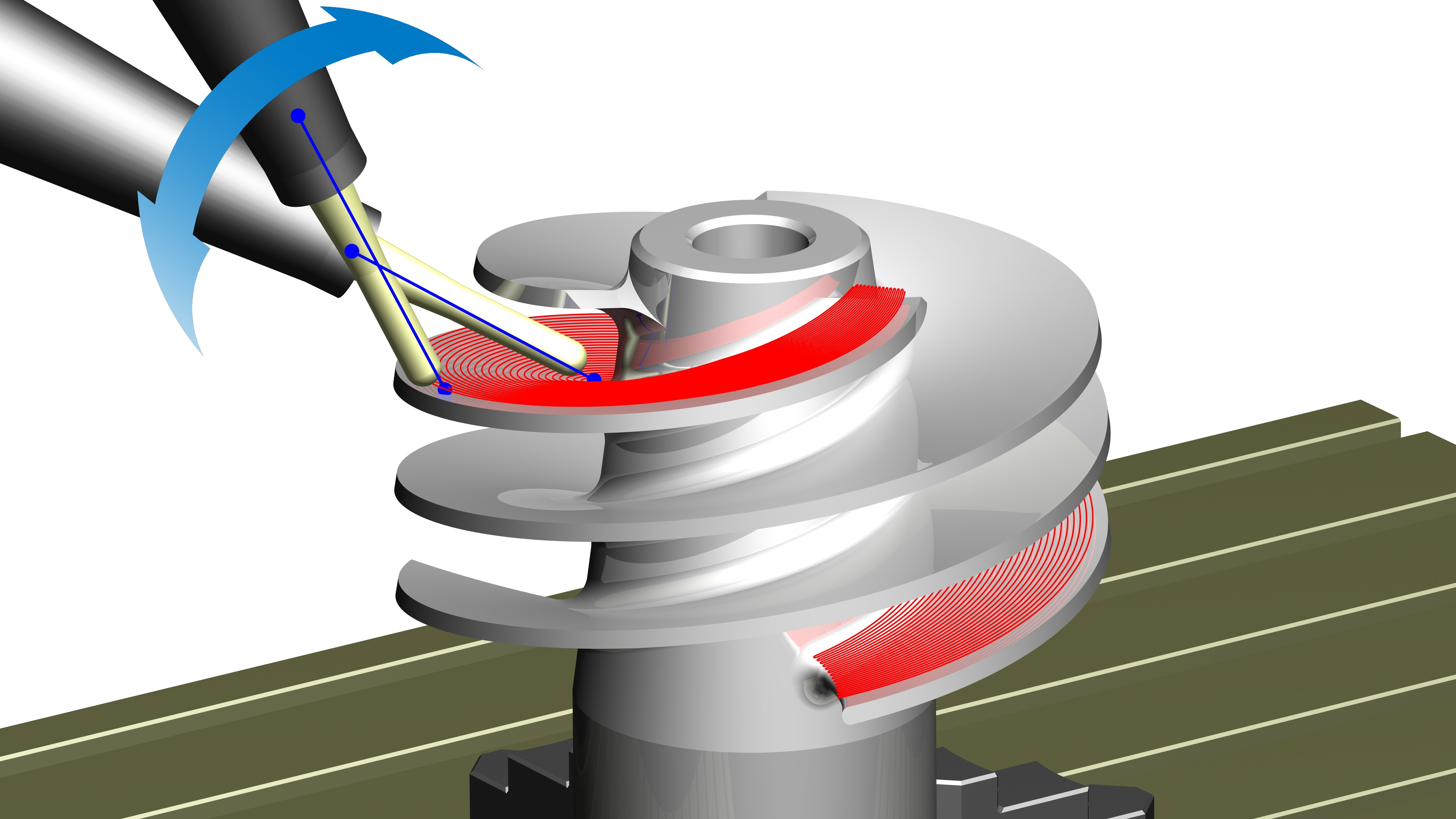 Pictures by PC CAD CAM Software News - 5 Axis Direction Vectors
