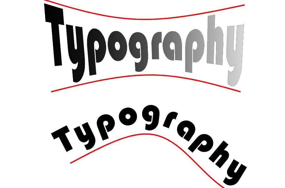 Pictures by PC CAD software for professional typography and the creation and kerning of labels and block text using postscript, truetype and unicode.