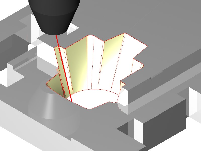 Pictures by PC CAD/CAM Software - 4 Axis Pocket